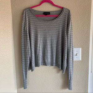 Lane Bryant striped metallic long sleeve